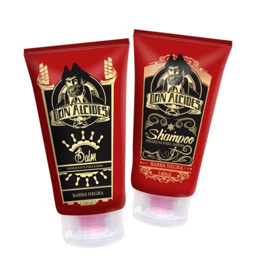 Kit Balm e Shampoo para barba