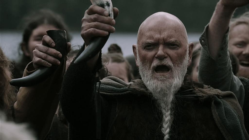 barba viking com tranças