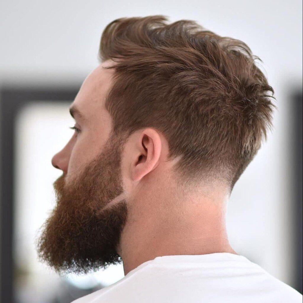 Tipos de barba: Risco na barba