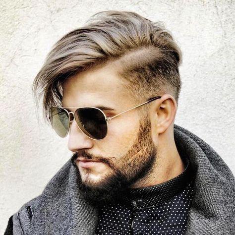 Corte cabelo masculino: comb over longo
