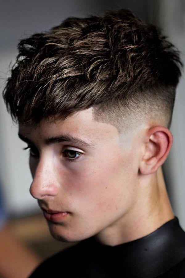 Corte masculino: short textured