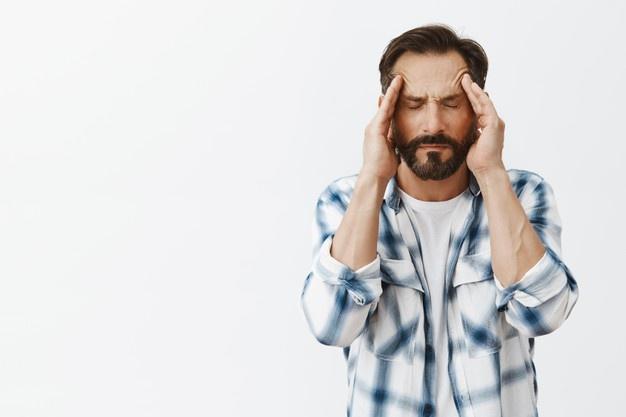 barba caindo por stress