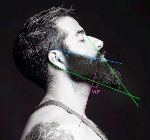 desenho barba