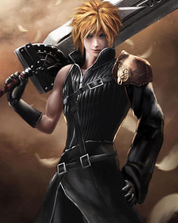 Cabelo Cloud Strife Final Fantasy