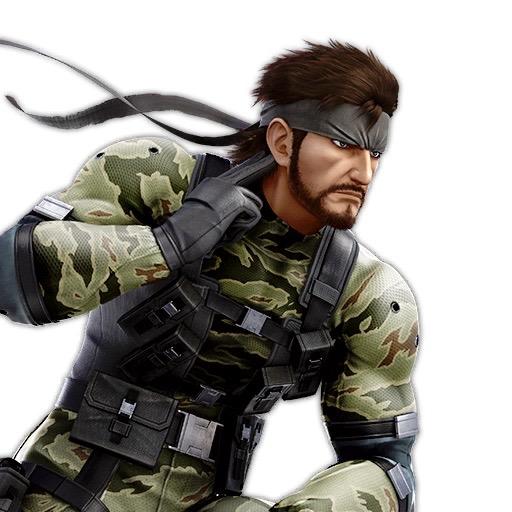 O cabelo do personagem Solid Snake