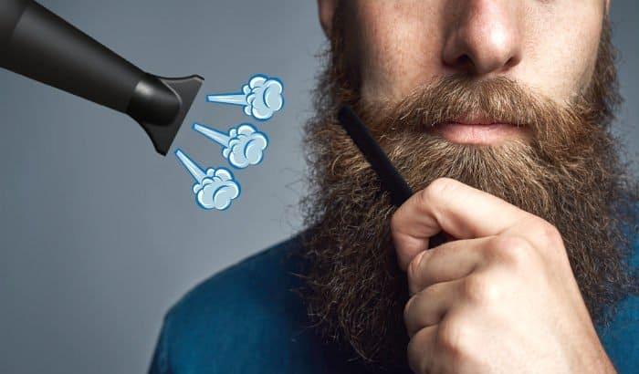pode usar secador de cabelo na barba