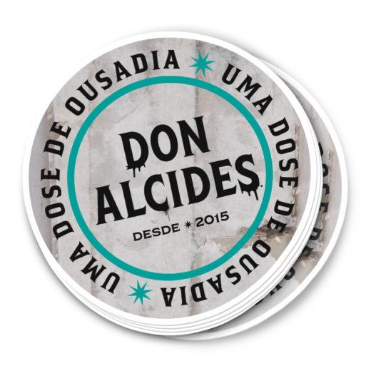 Adesivo Don Alcides uma dose de ousadia verde