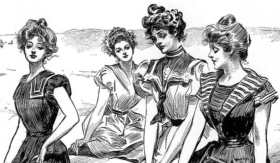 Pompadour Gibson Girl