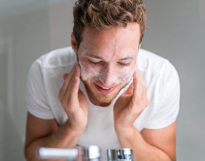 como cuidar da pele do homem
